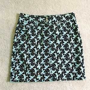 Loft print stretch skirt size 0P